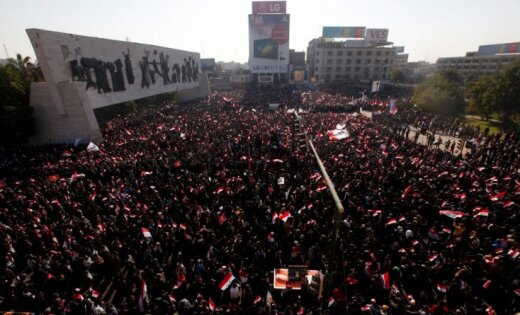 ВБагдаде при столкновениях милиции спротестующими умер человек