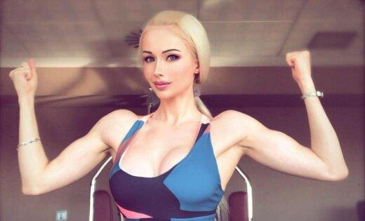 Amazone ar eņģeļa sejiņu: Odesas Bārbija uzaudzējusi iespaidīgus muskuļus