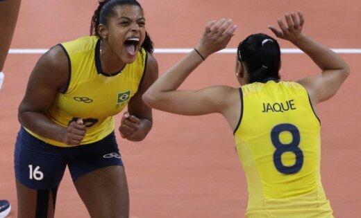 Brazīlijas volejbolistes kļūst par olimpiskajām čempionēm