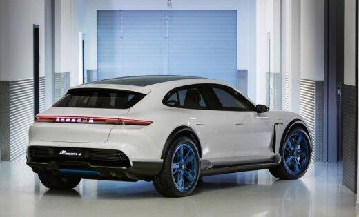 'Porsche' demonstrē nākamgad gaidāmo elektrisko apvidnieku ar 600 ZS