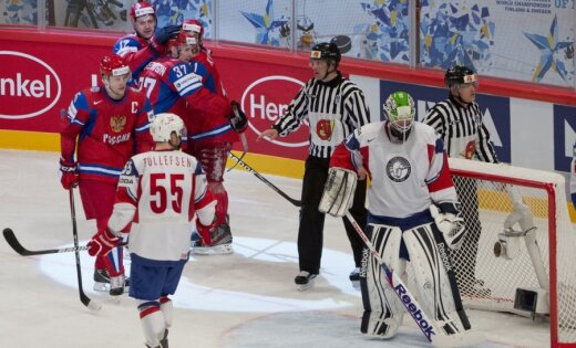 Krievijai otrā uzvara pasaules čempionātā