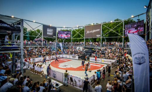 Баскетбольным турниром и ярким шоу открылся десятый сезон Ghetto Games в Латвии