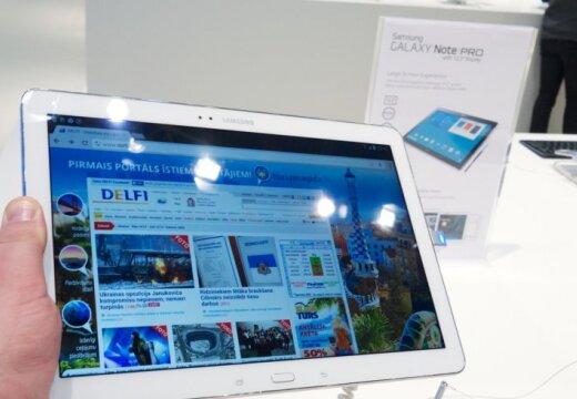 Izliektie televizori un planšetes profesionāļiem 'Samsung' inovāciju izstādē