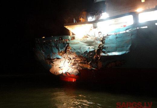 В Ирбенском проливе столкнулись два грузовых судна (17.10)
