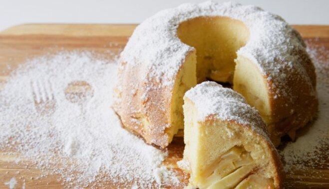 Перевернутый яблочный кекс