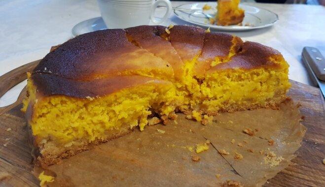 Spirgta ķirbju-cidoniju kūka