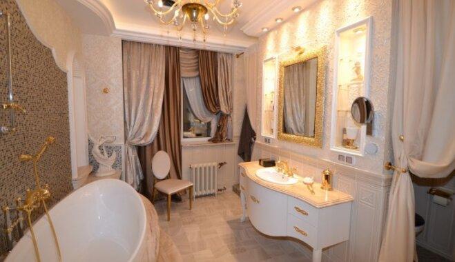 Dzīvoklis kā pils – gluži kā ar zeltu pielieti apartamenti Juglā