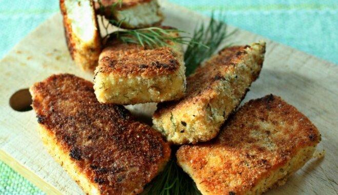 Panējumā cepts mājas siers