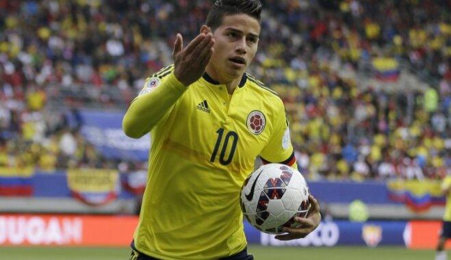 Kolumbijas izlases līderis Rodrigess izlaiž ceturtdienas treniņu