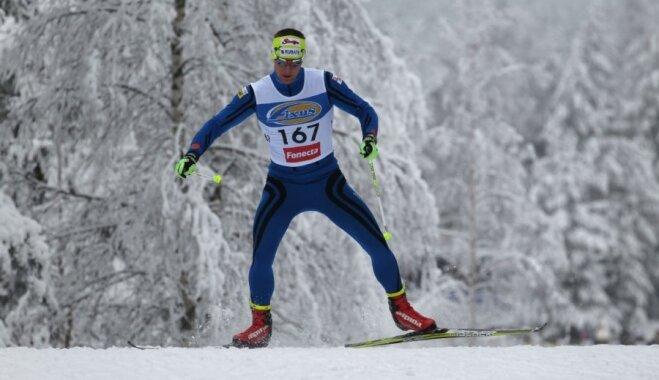 Latvijas slēpotājs Jānis Paipals pietuvojas ceļazīmei uz Sočiem