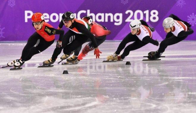 Puķītim un Zvejniekam neizdodas iekļūt Phjončhanas olimpisko spēļu pusfinālā 1000 metros