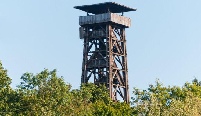 Во Франкфурте сгорела одна из самых высоких деревянных башен в Германии