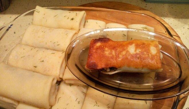 Фото-рецепт: блинчики с мясом лося и яйцом
