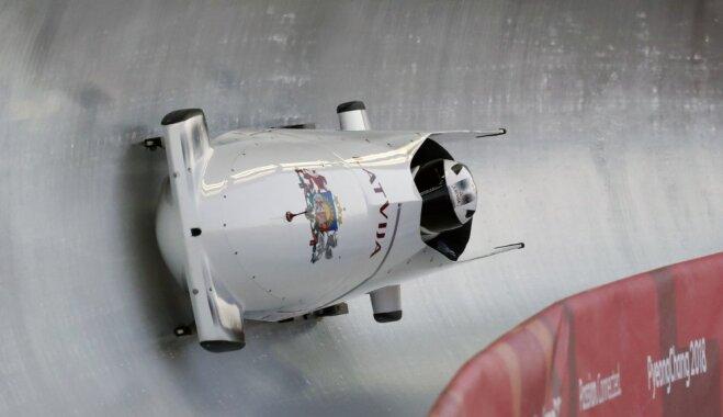 Мелбардис и Стренга установили рекорд трассы, но потеряли лидерство после второго заезда