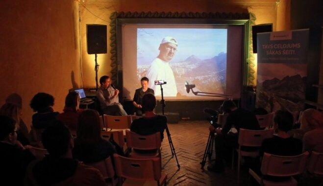 Video: 'TūrismaGids' stāstu vakars par žurnālista piedzīvojumiem olimpiskajās spēlēs