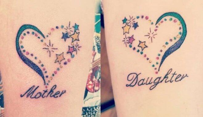 ФОТО. Дочки-матери: 10 идей для одинаковых татуировок