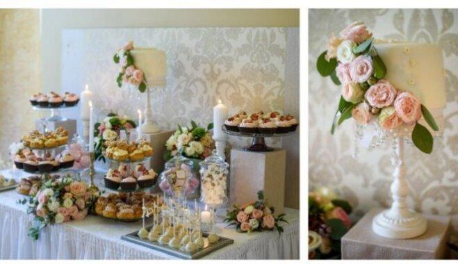 Populārā izvēle kāzās – desertu galds. Kādus našķus pasniegt un kā noformēt