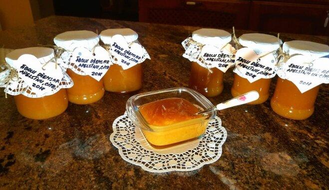 Vienkāršais ābolu džems ar apelsīniem un citroniem