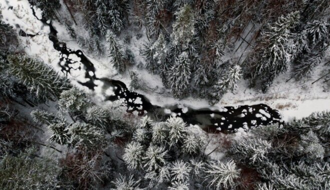 Foto: Dabas taka 'Viesatas upesloki' no putna lidojuma