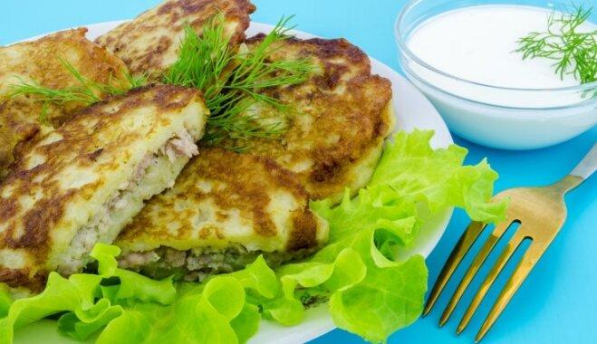 Драники – картофельные оладьи с мясной начинкой