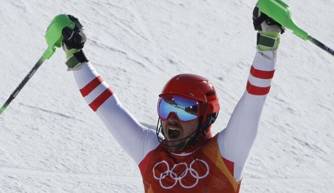 Великий Хиршер выиграл суперкомбинацию в Пхенчхане, Звейниекс повторил рекорд Латвии