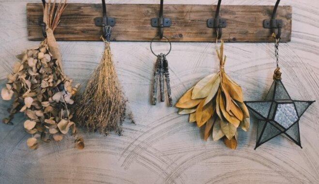 Ne tikai drēbju turēšanai: praktiski veidi, kā mājās izmantot sienas pakaramos