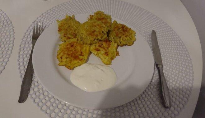 Ātrās kartupeļu pankūciņas – 'stārķa ligzdas'