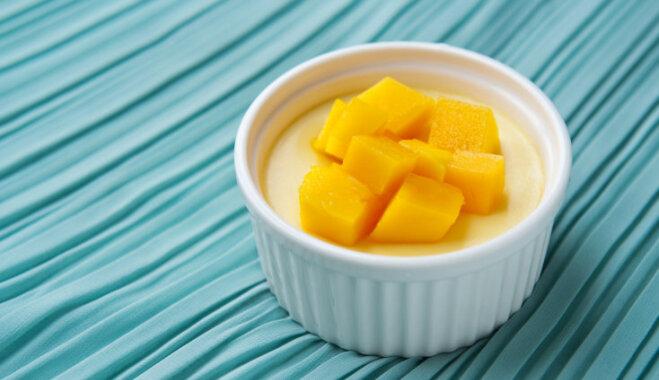 Kokosriekstu krēms ar mango