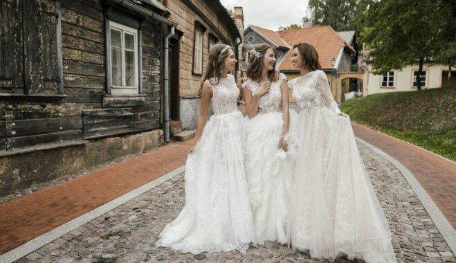 Foto: Kāzu modes zīmols 'Ingrida Bridal' atrāda jauno līgavu kleitu kolekciju