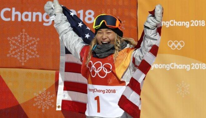 Amerikāņu pusaudži turpina dominēt Phjončhanas olimpiādes snovborda sacensībās