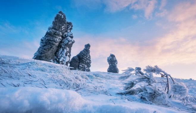 Septiņi 'stiprie vīri' – noslēpumainā klints kompozīcija Krievijā