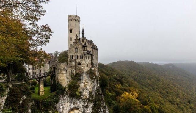 Lihtenšteinas pils, kas izskatās kā no princešu un bruņinieku pasaku grāmatas