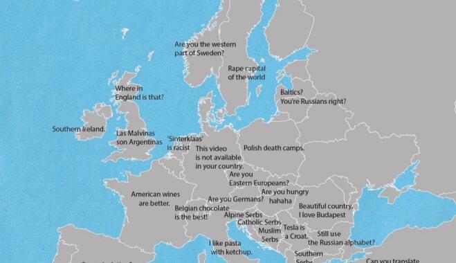 """""""Вы из Прибалтики? То есть вы русские, да?"""": Карта Европы с фразами, которые бесят жителей разных стран"""