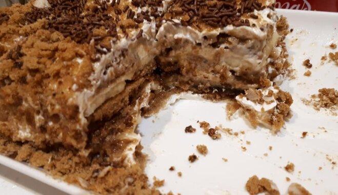 Neceptā prjaņiku kūka no trīs sastāvdaļām