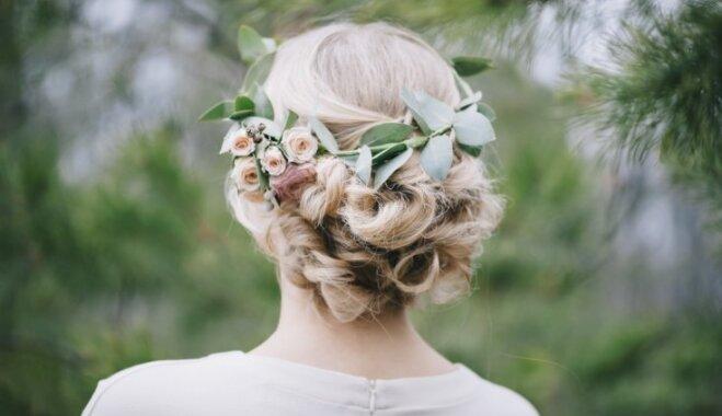 Pinumi, lokas un aksesuāri: kāzu frizūras dažāda garuma matiem