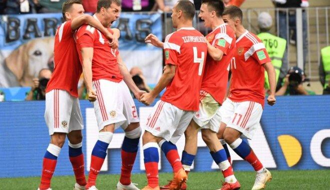 Россия разгромила Саудовскую Аравию в первом матче ЧМ-2018 по футболу