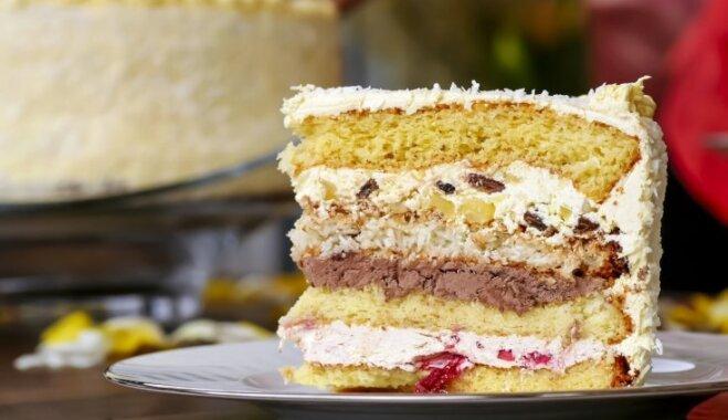 Большой деревенский торт с бисквитом из 30 яиц