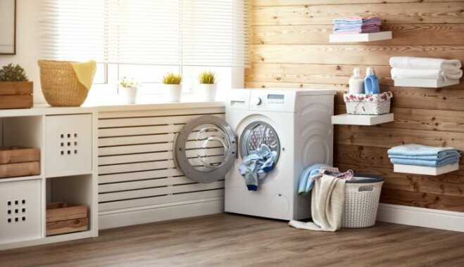 Kompaktā veļas mazgāšanas istaba: septiņi padomi telpas labiekārtojumam