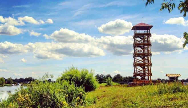 Jelgavā izveidots skatu tornis savvaļas zirgu un pilsētas panorāmas vērošanai