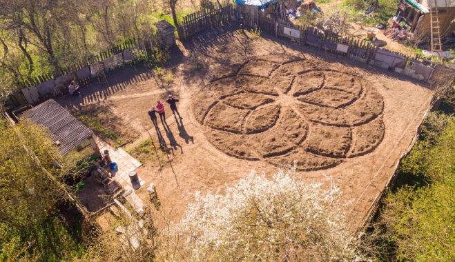 Ciemos: Čaklu roku izlolotais urbānais mazdārziņš Lucavsalā