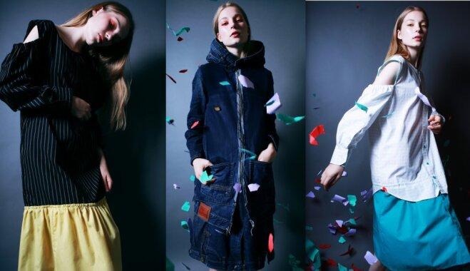 Minimālisms un otrreizēji izmantoti audumi: pašmāju zīmols 'Zīle' izrāda jauno apģērbu kolekciju