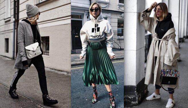 Modes izaicinājums: kā miksēt stilus un tērpā iekļaut sportisku džemperi