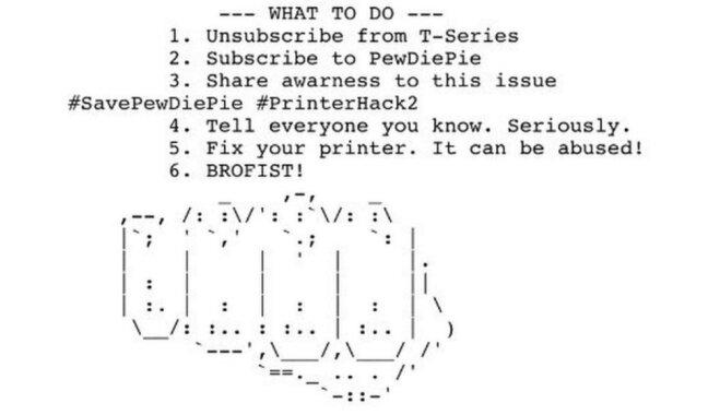 Хакеры заставили тысячи принтеров печатать тексты в поддержку видеоблогера
