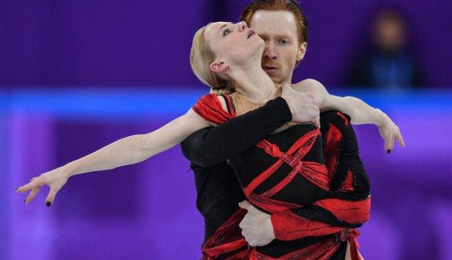 Российские фигуристы занимают второе место в олимпийских соревнованиях спортивных пар