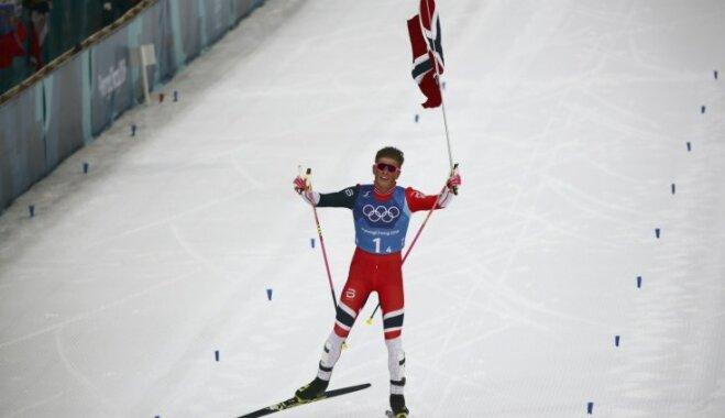 XXIII Ziemas olimpisko spēļu rezultāti 4x10 km stafetē distanču slēpošanā vīriešiem (18.02.2018.)