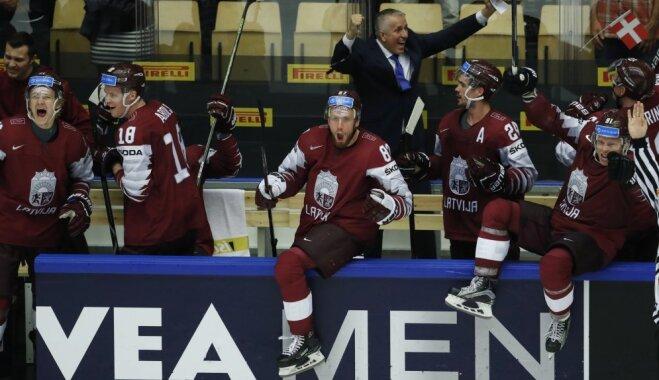 ВИДЕО: Как Латвия впервые за 9 лет пробилась в четвертьфинал ЧМ по хоккею