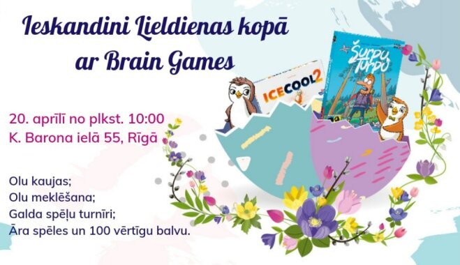 Ieskandini Lieldienas kopā ar 'Brain Games'!