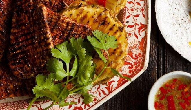 Grilēta tītara fileja ar ananasiem