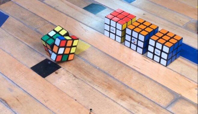 ВИДЕО: Японский инженер создал самособирающийся кубик Рубика