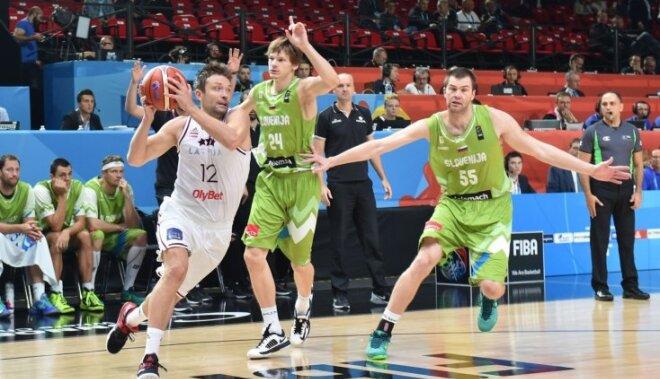 Сборная Латвии одолела словенцев и прошла в восьмерку сильнейших Евробаскета